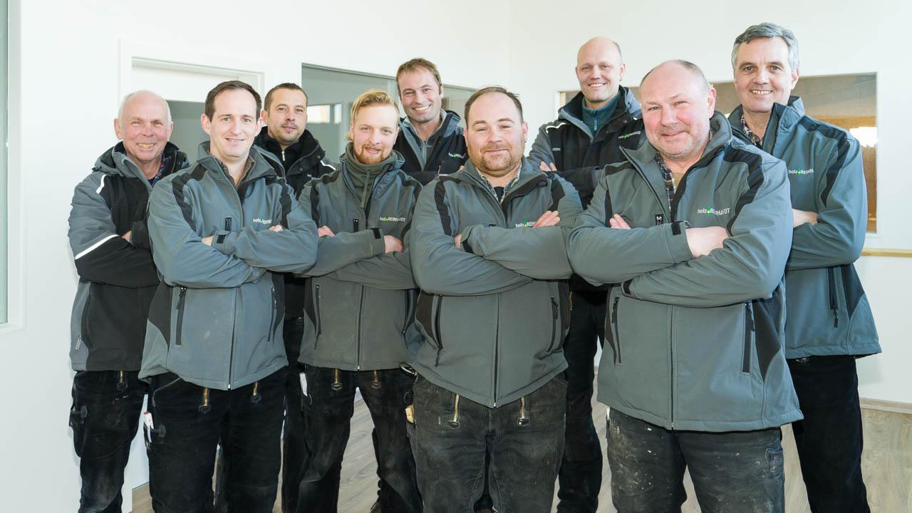 Corporate-Fotografie - Teamfoto Holzbau Reinhardt