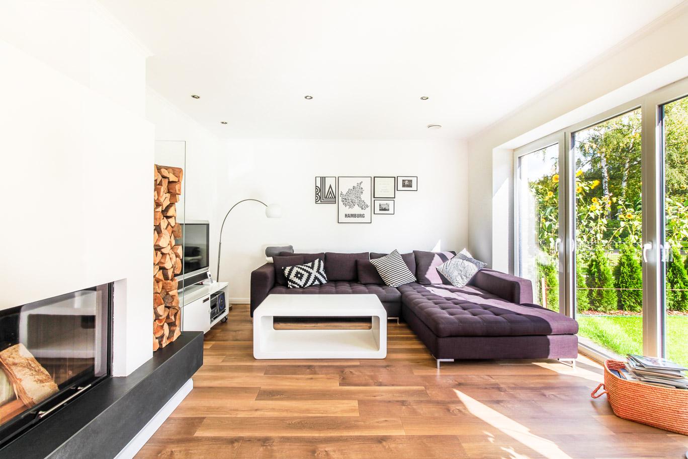 Wohnzimmer im Doppelhaus