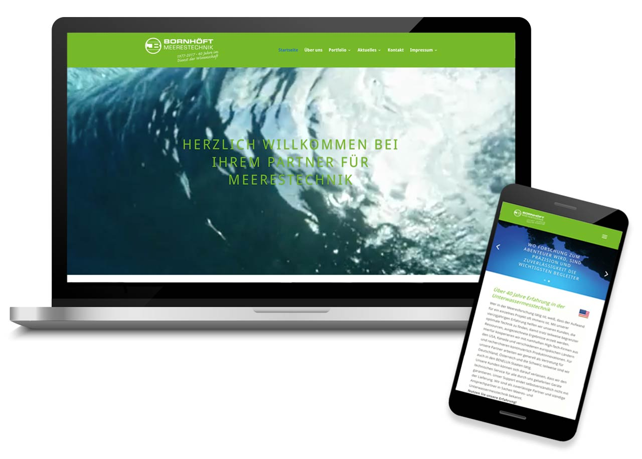 Webdesign für Bornhoeft Meerestechnik Kiel