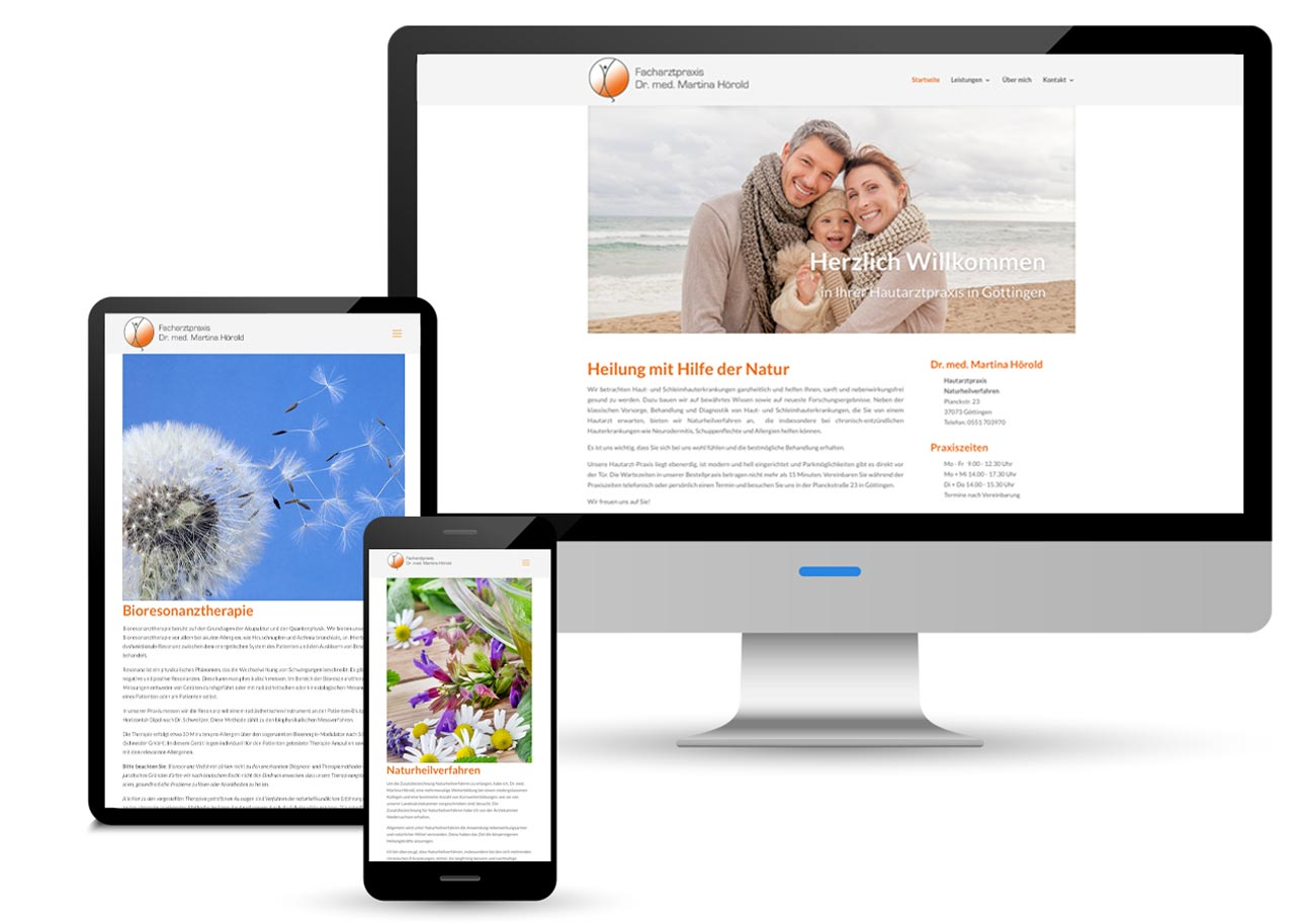 Webdesign Hautarztpraxis