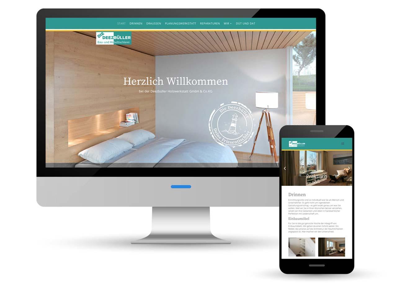 Webdesign Tischlerei Deezbueller