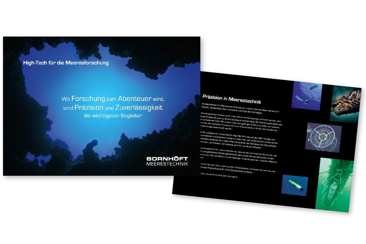 Broschüre für Bornhöft Meerestechnik