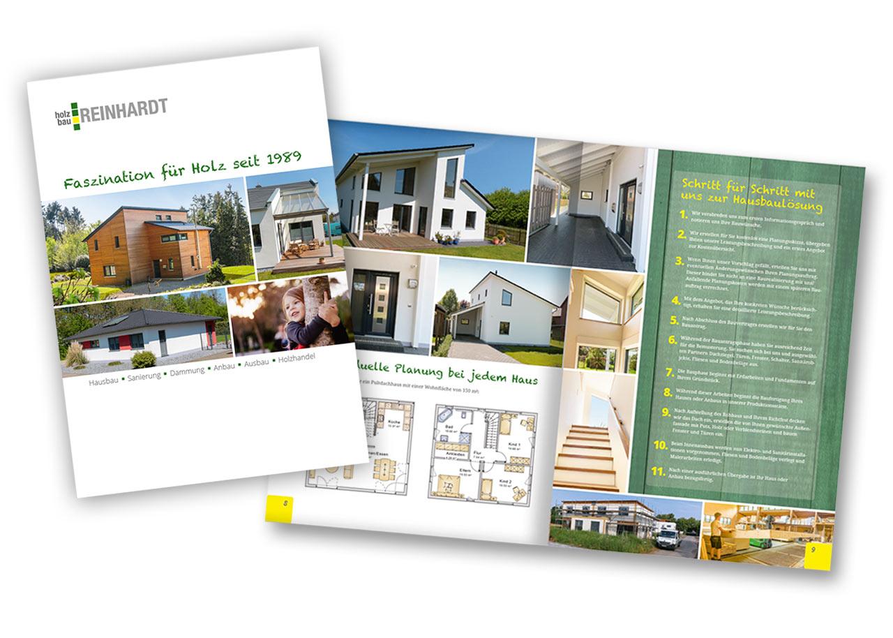 Broschüre für Holzbau-Reinhardt
