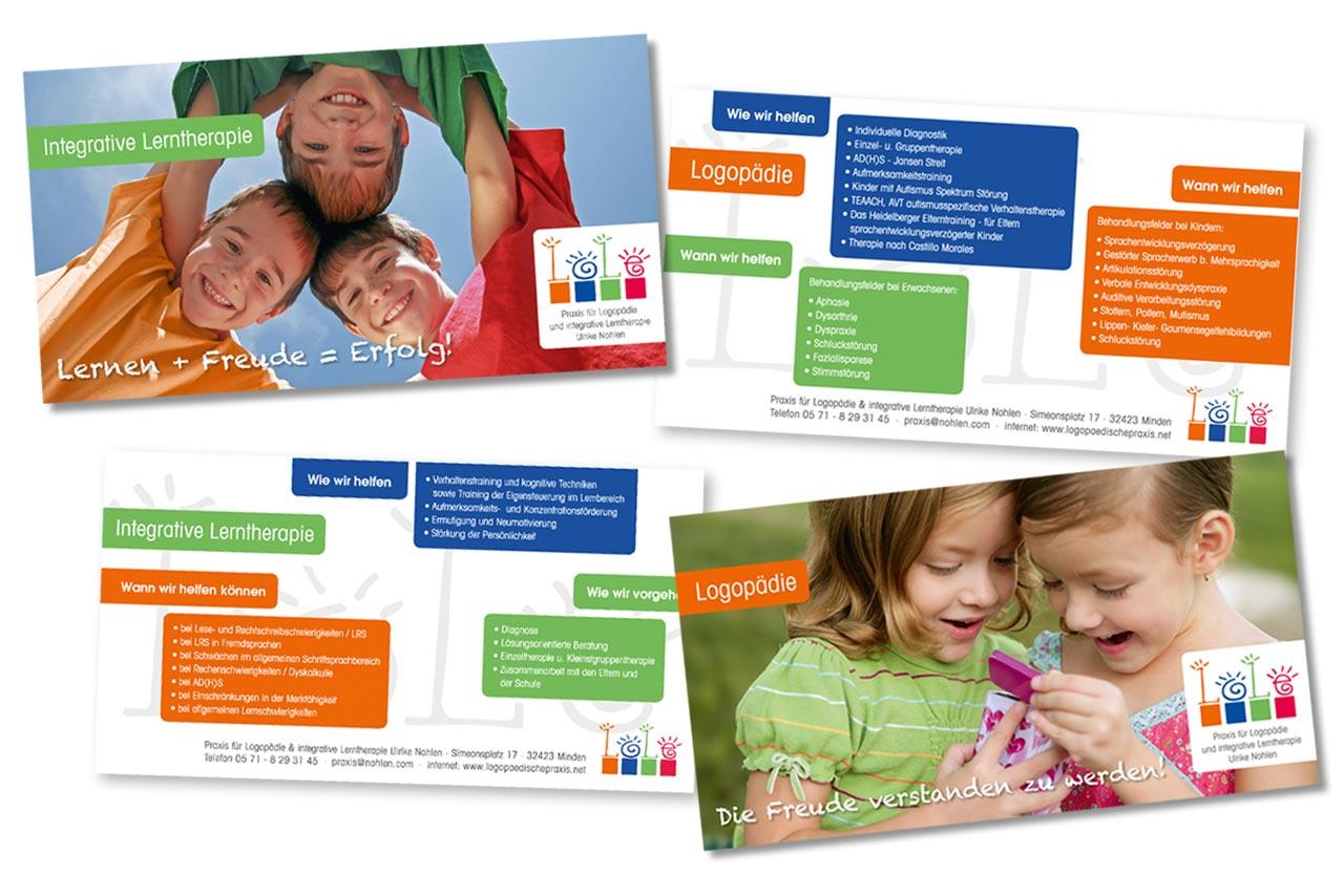 Flyer für die Logopaedie-Nohlen