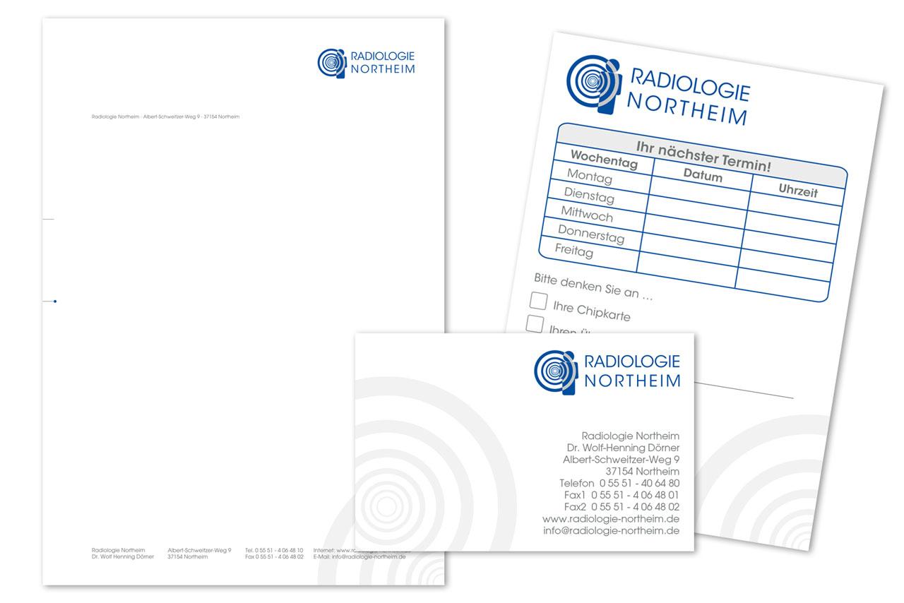 Geschäftsausstattung für die Radiologie-Northeim